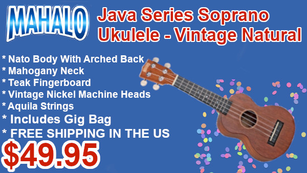 Mahalo Jave Series Soprano Ukulele Vintage Natural on sale