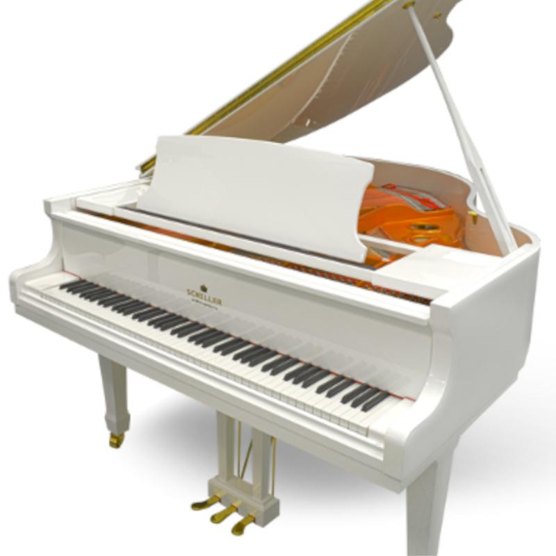 Schiller Performance 5'0 Leipzig Baby Grand Piano - White Polish