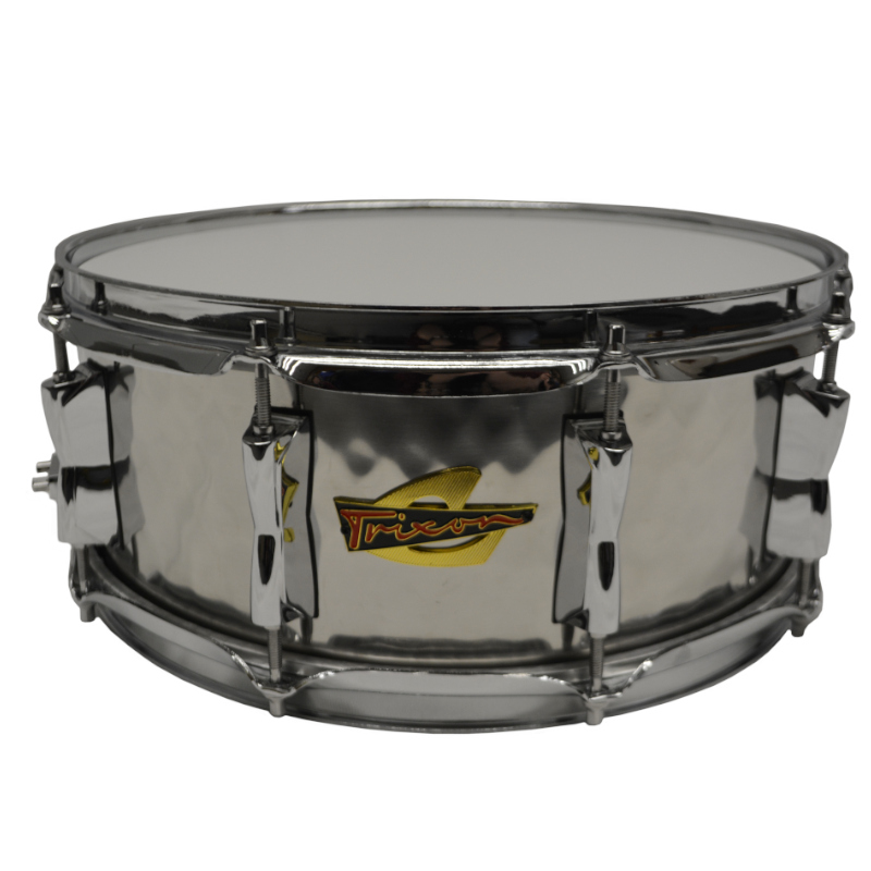 Trixon Solist Hand Hammered Stainless Steel Snare Drum 14