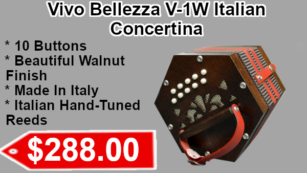 Excalibur Vivo Bellezza V-1W Italian Concertina on sale