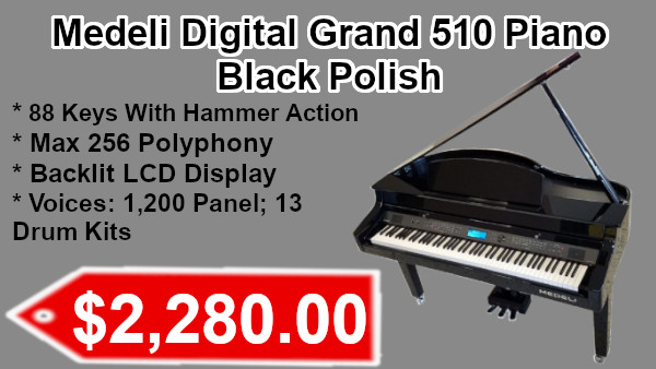Medeli Digital Grand 510 piano black polish on sale