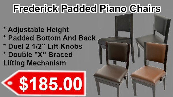 Frederick Padded Piano Chairs on sale