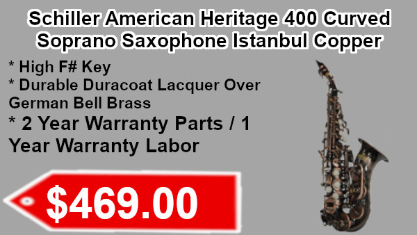 Schiller American Heritage 400 Curved soprano Saxohpone Istanbul Copper on sale