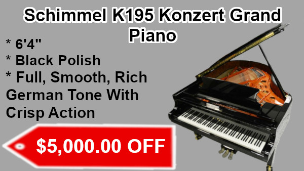 Schimmel k195 konzert Grand Piano on sale