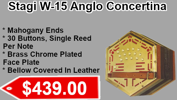 Stagi W-15 Anglo Concertina on sale