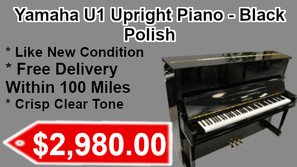 Yamaha U1 Upright piano - black polish on sale
