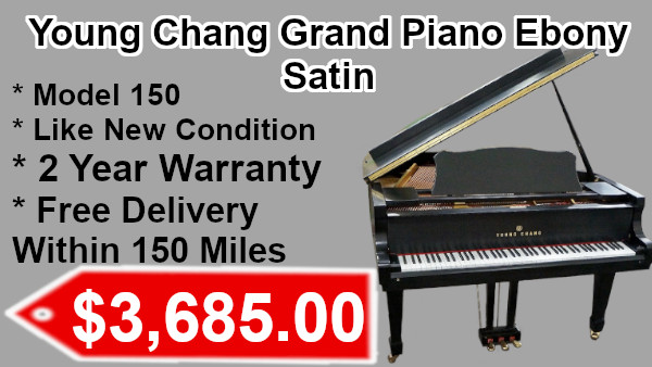 Young Chang Grand Piano Ebony Satin on sale