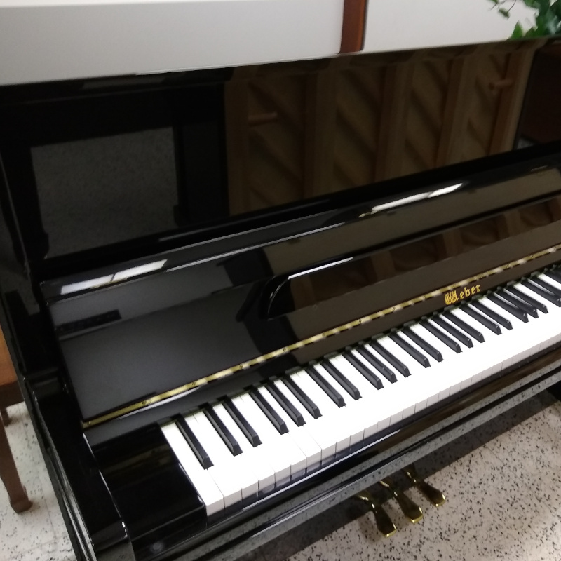 Weber Upright Piano Black Polish