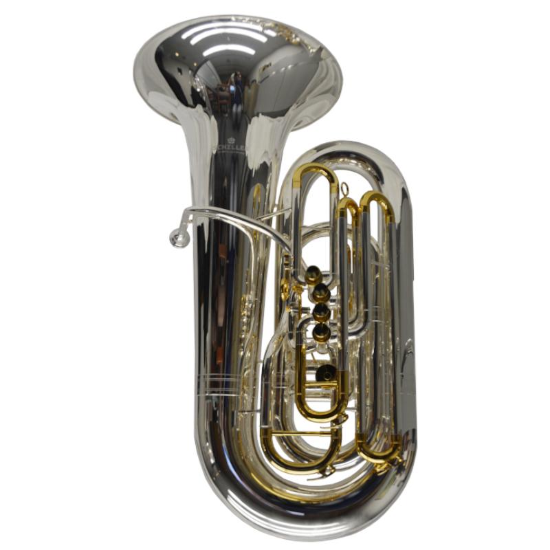 Schiller Studio Elite CC Compensating 5 Valve Tuba Silver Plated
