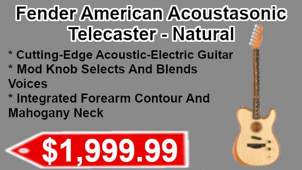 Fender American Acousasonic Telecaster - natural on sale