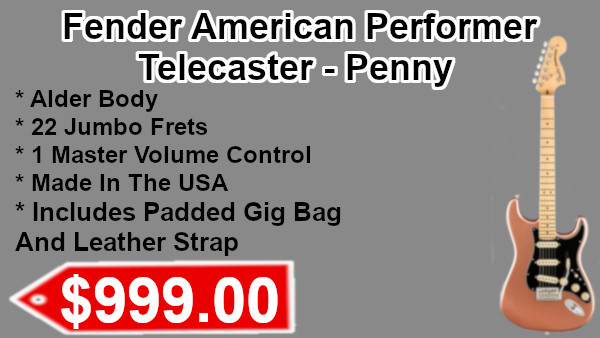 Fender American Performer Telecaster Penny on sale