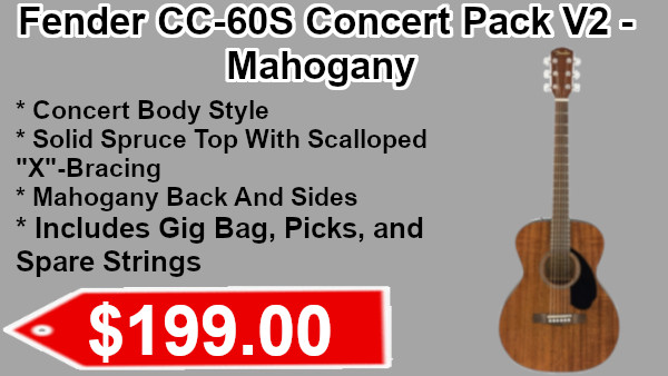 Fender CC-60s Concert pack v2 in mahogany on sale