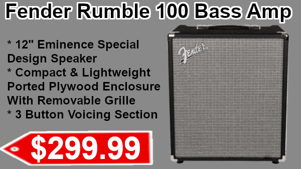 Fender Rumble 100 Bass Amp on sale