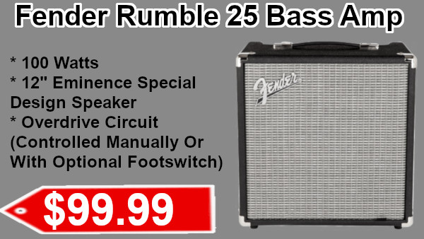 Fender Rumble 25 Bass Amp on sale