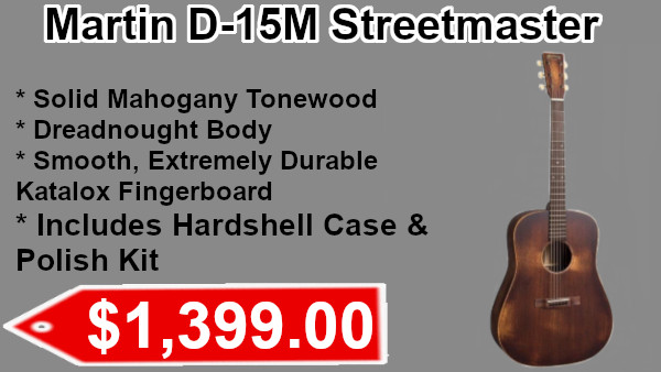 Martin D-15m Streetmaster Includes Hardshell Case & Polish Kit on sale