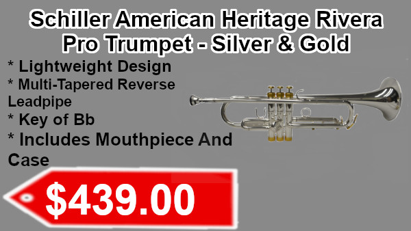 Schiller American Heritage Rivera Pro Trumpet silver & Gold on sale