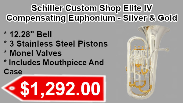 Schiller Custom Shop Elite IV Compensating Euphonium - Silver & Gold on sale