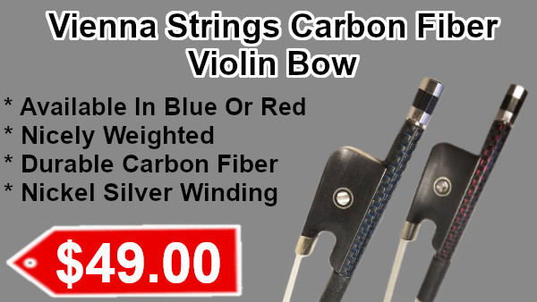 Carbon Fiber Violin Bow by Vienna Strings Red or Blue on sale