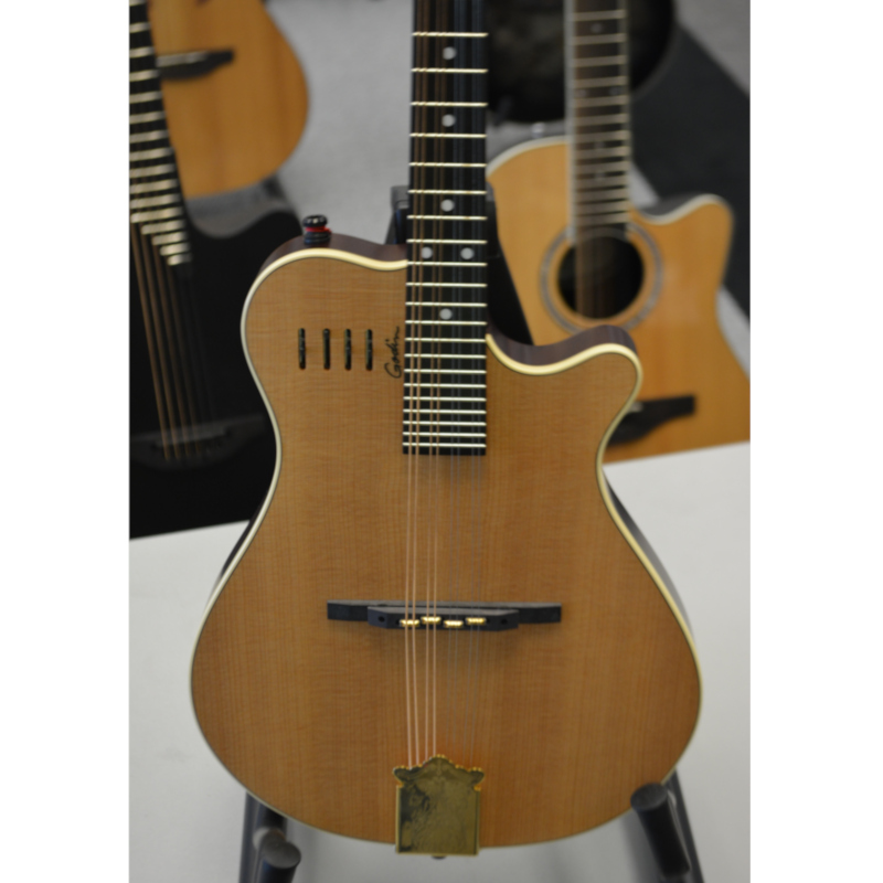 Godin A8 Electro Acoustic Mandolin with Gig Bag - Natural