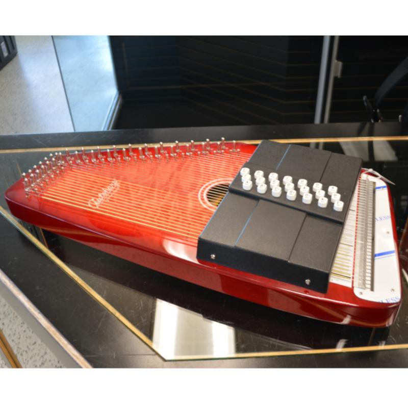 Oscar Schmidt Autoharp - Flamed Red Burst Finish