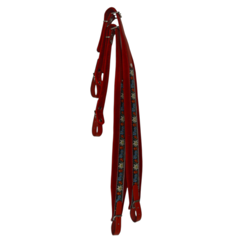 Red Folk Accordion straps by Italian Leatherworks