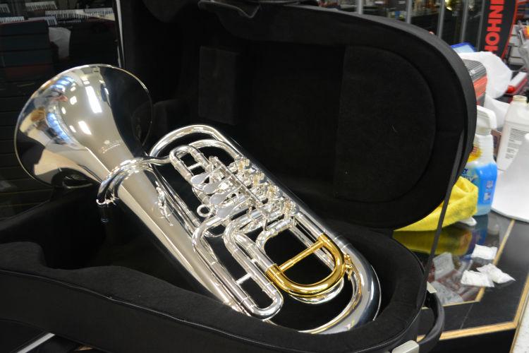 Schiller Elite Rorary Euphonium Silver/Gold