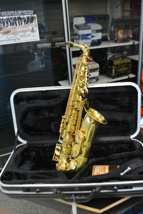 Schiller Elite V Alto Saxophone Raw Brass