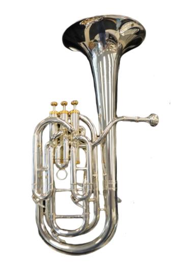 Schiller British Band Baritone Silver/Gold Finish
