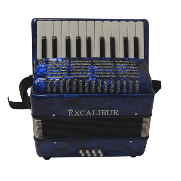 Excalibur Premier 22 Piano Accordion - Dark Blue
