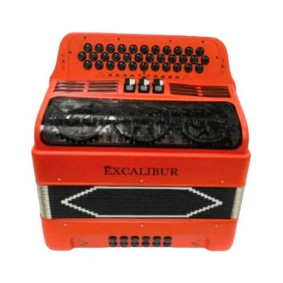 Excalibur 34 Key PSI Ltd Italian Red With Decoration