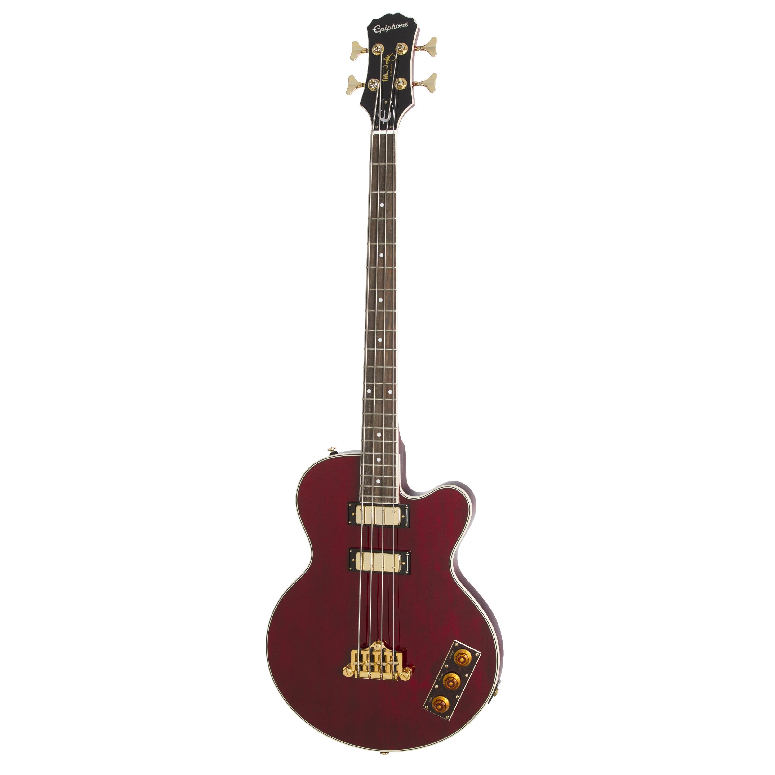 Epiphone Allen Woody Rumblekat Bass - Wine Red Guitar
