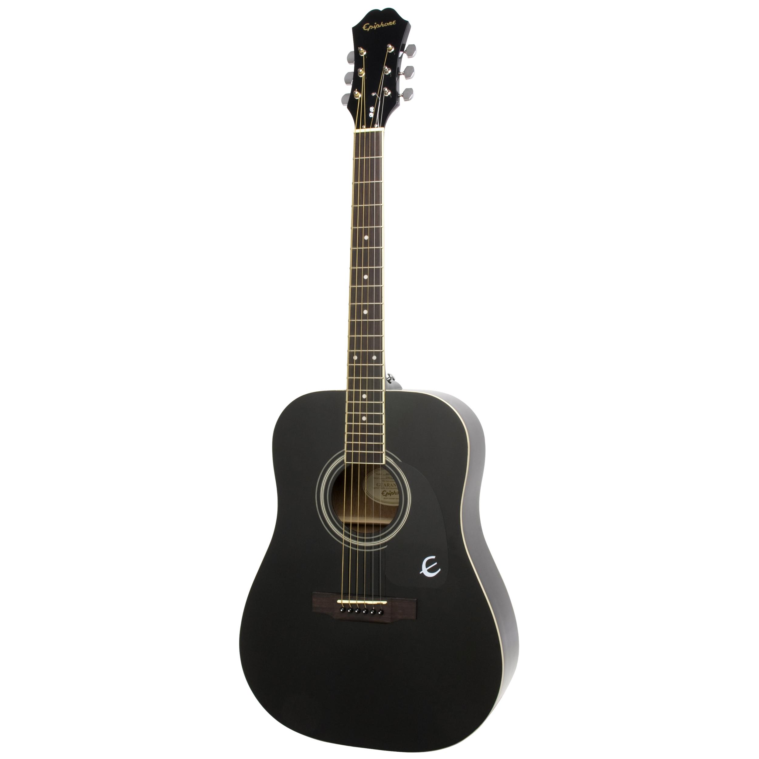Epiphone DR-100 - Ebony Guitar