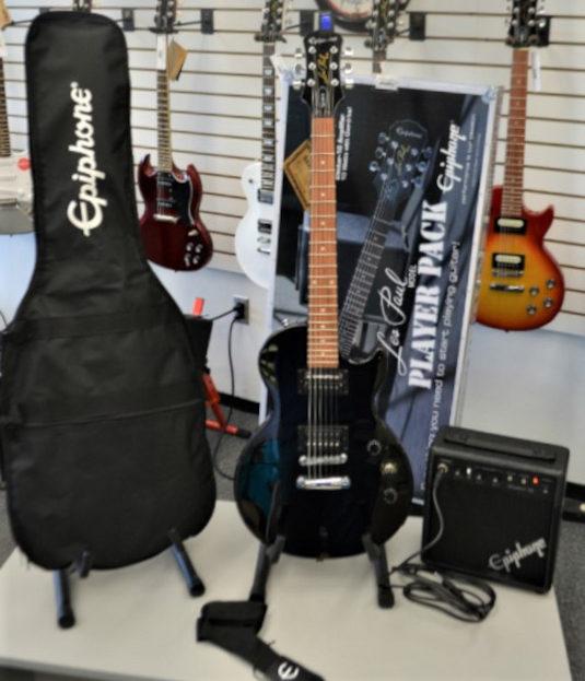 Epiphone Les Paul II Special Guitar Pack Black Polish