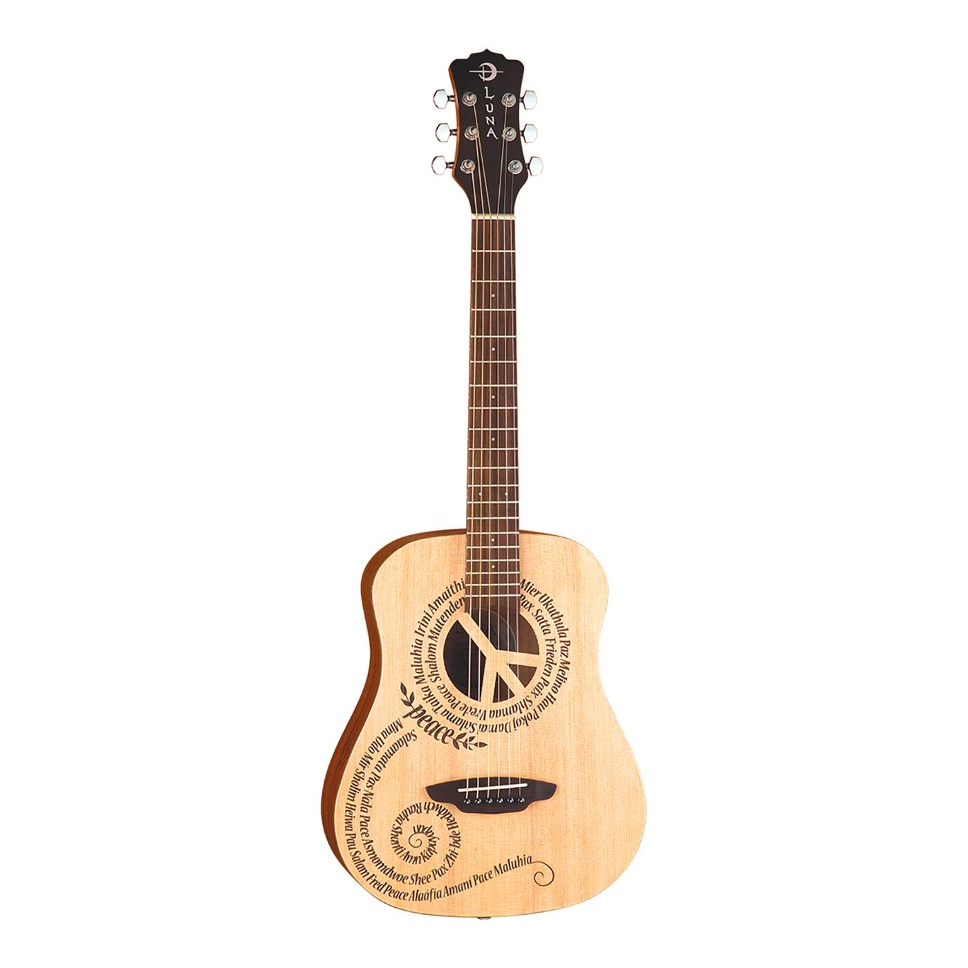 Luna Safari Peace Travel Guitar w/ Gigbag - SAF PCE