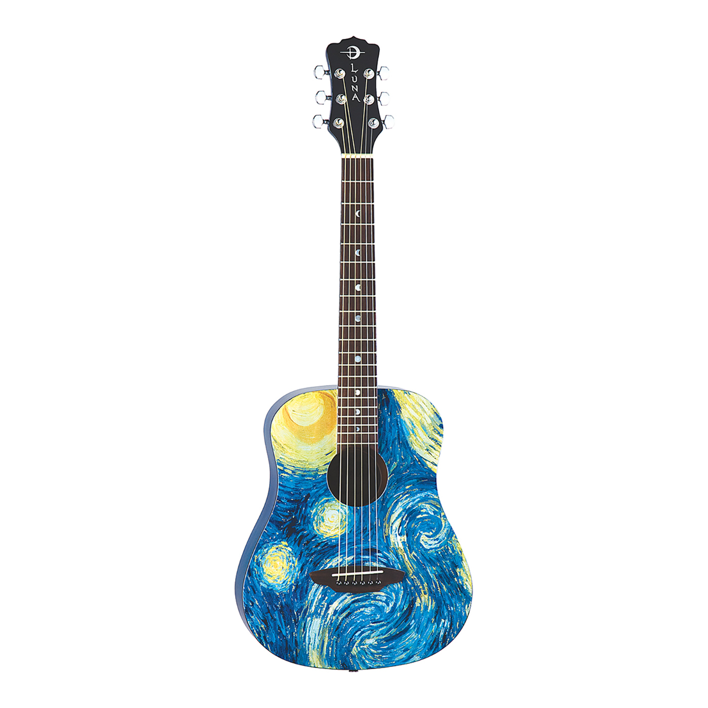Luna Safari Starry Night Travel Guitar - SAF STR
