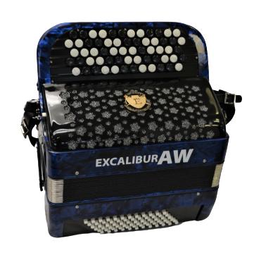 Excalibur Super Classic 72 Bass Chromatic Button Accordion Midnight Blue