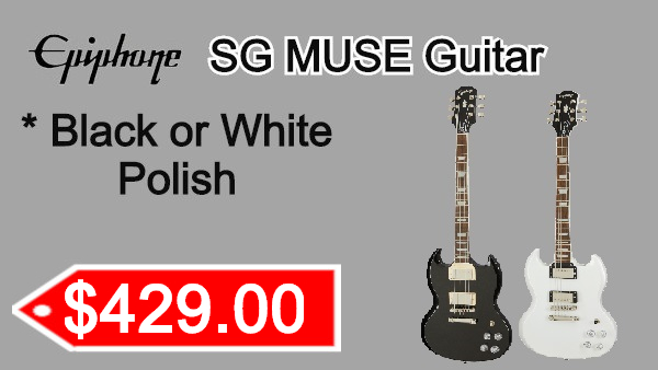 Epiphone Guitar SG MUSE on sale