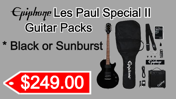 Epiphone Lespaul II Guitar Packs on sale