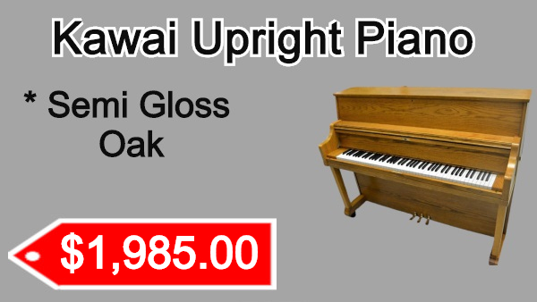 Kawai Upright Piano Semi Gloss Oak on sale