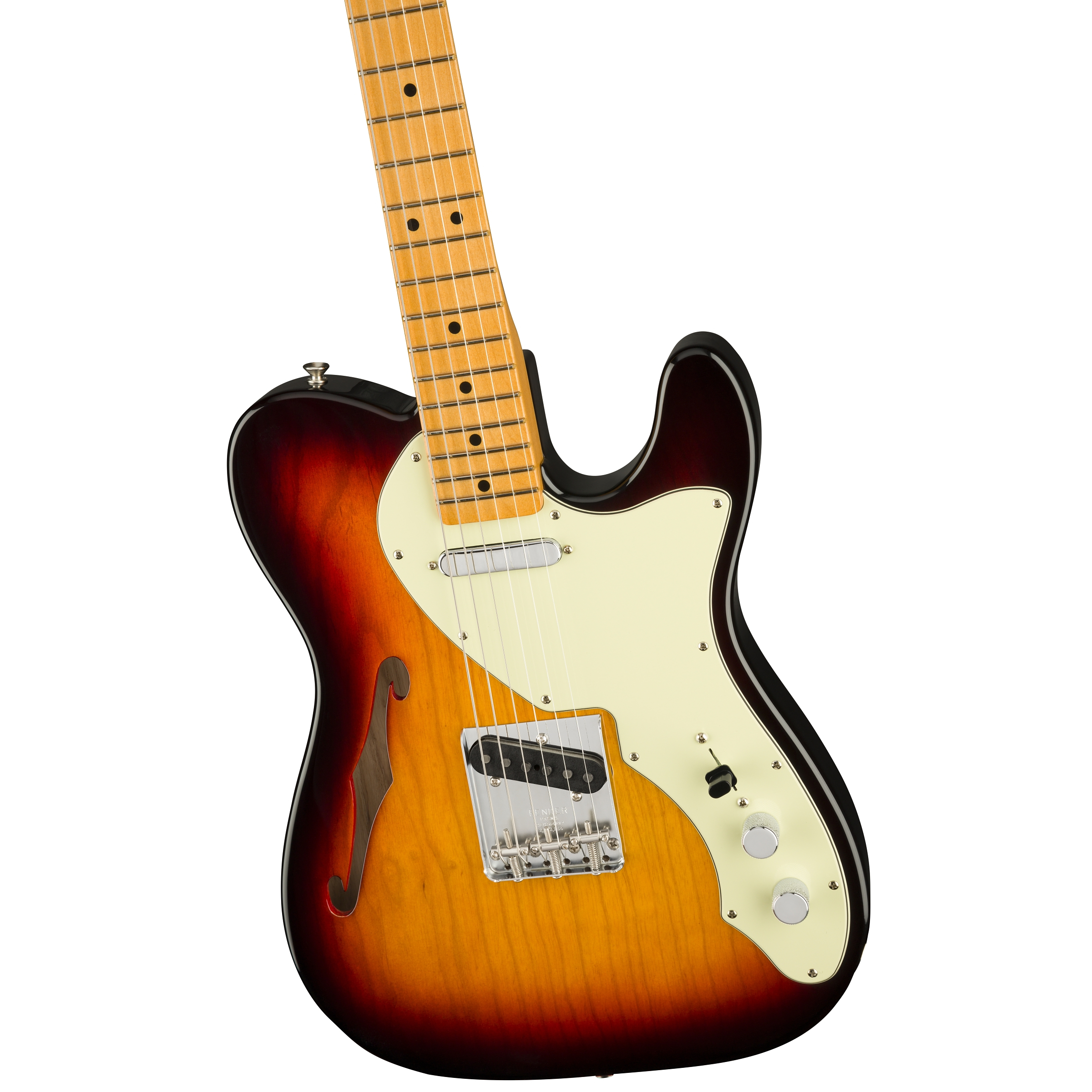 Fender American Original 60s Telecaster® Thinline, Maple Fingerboard, 3 Color Sunburst