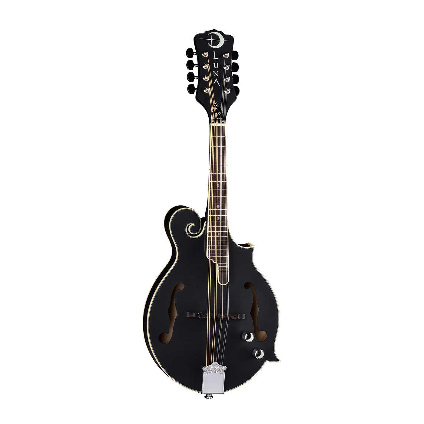 Luna Moonbird F-Style Mandolin A/E - Satin Black