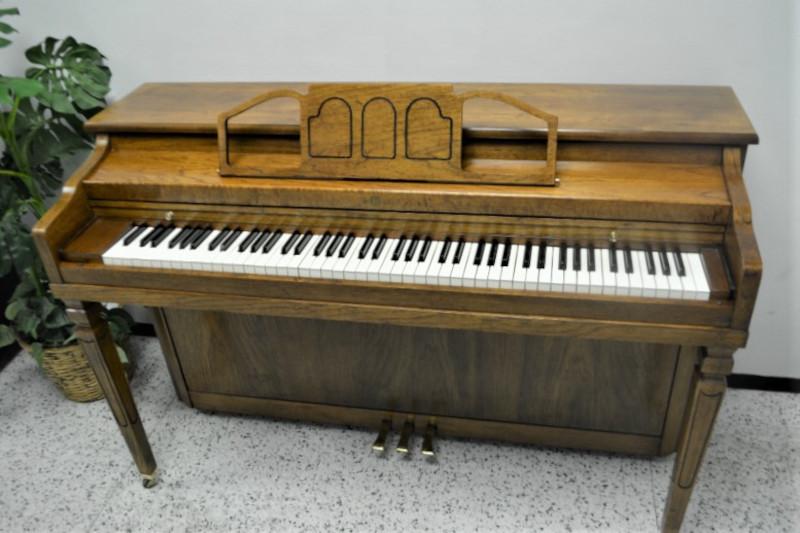 Cable Upright Piano-Pecan Semi Gloss