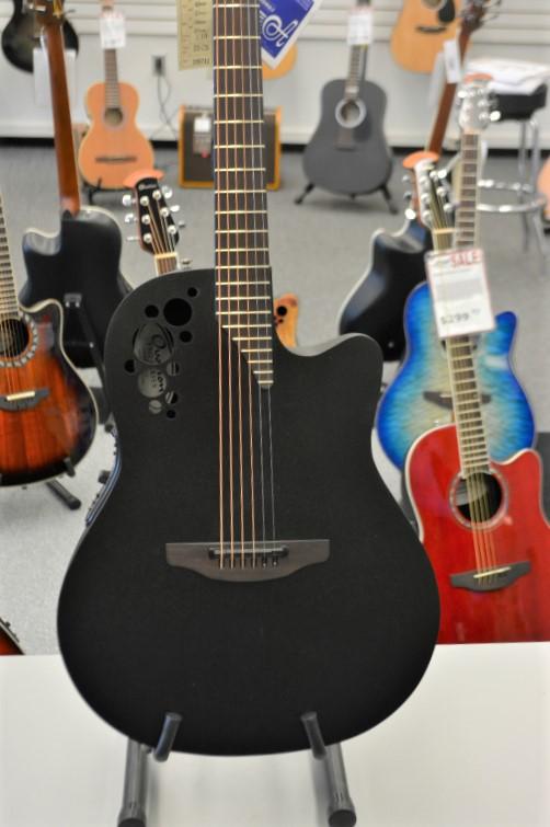 Ovation 1778 TX-5 Guitar - Black Textured