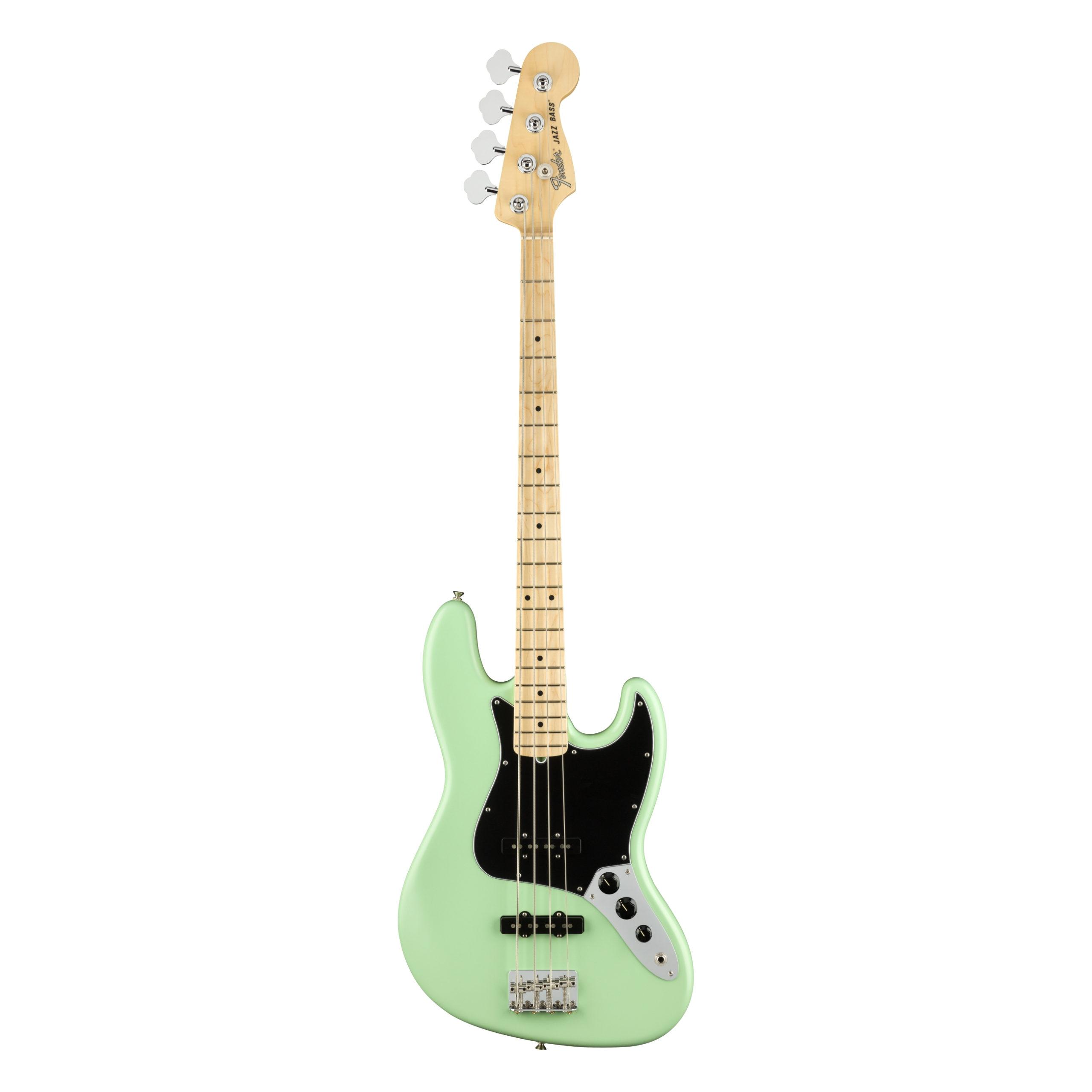 Fender American Performer Jazz Bass®, Maple Fingerboard, Satin Surf Green