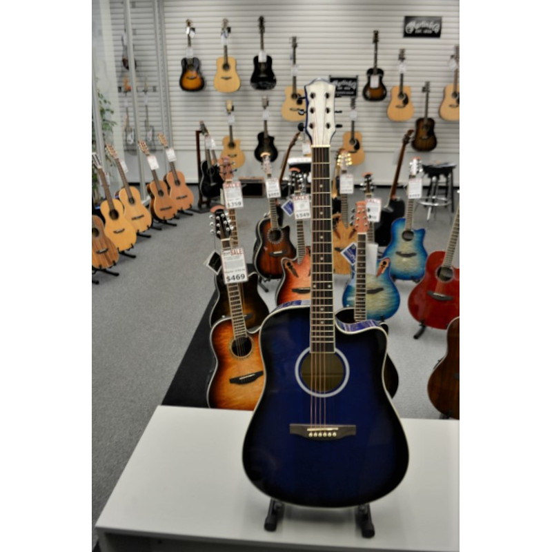 Pacific Blue Full Size Acoustic Guitar