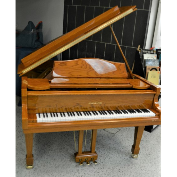 Samick Grand Piano Polished Gold Oak