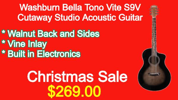 Washburn BTS9VCECH Acoustic Guitar