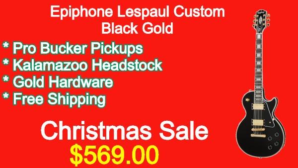 Epiphone Lespaul Custom Black Gold