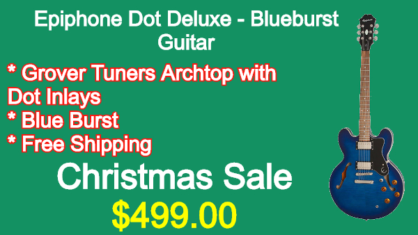 Epiphone Dot Deluxe Blueburst Guitar