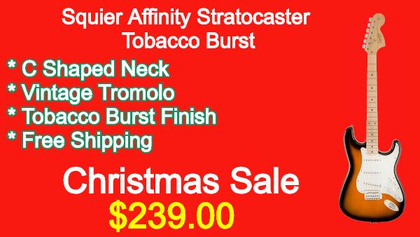 Squier Affinity Stratocaster Tobacco Burst